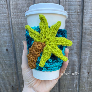 Crocheted Adjustable Everything Cozy -Palm Tree Cozy