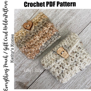 PDF PATTERN ONLY - The Everything Pouch / Gift Card Holder / Tea pouch / Earbud holder
