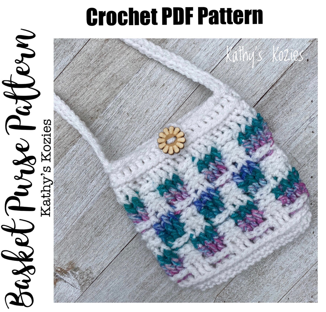 PDF PATTERN ONLY - Easter Basket Purse Crochet Pattern/ Toddler Purse / Childs Purse