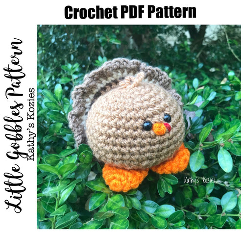 PDF PATTERN ONLY Little Gobbles Crochet Turkey