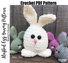PDF PATTERN ONLY Crocheted Stuffed Egg Bunny