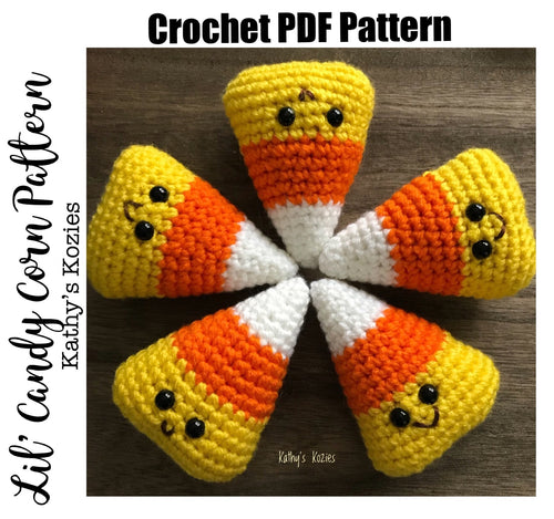 PDF PATTERN ONLY Crocheted lil Candy Corn