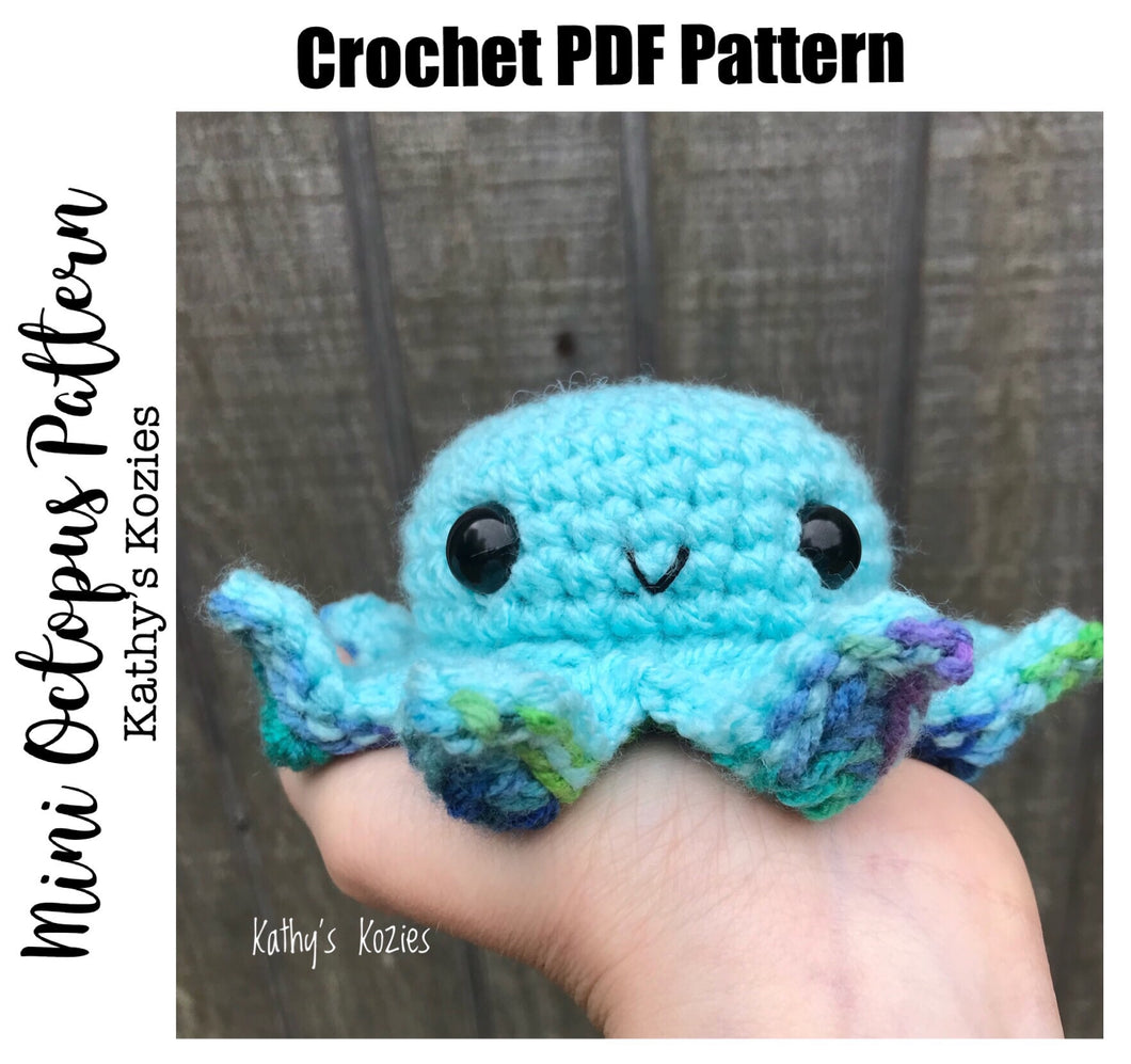 PDF PATTERN ONLY - Mini Octopus Crochet Pattern