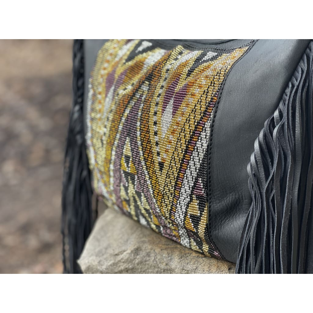 Boho Beaded Huipil Fringe + Legacy Leather Small Taurus - Bag
