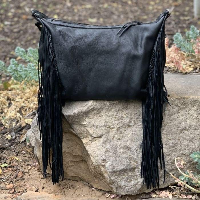 Boho Black Legacy Leather Fringe Small (Pre-Order) - Bag
