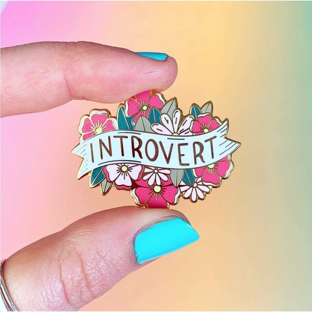 Custom Enamel Pin Introvert *Need on White* - Pins