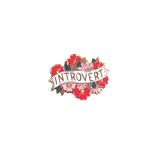 Custom Enamel Pin Introvert - Pins
