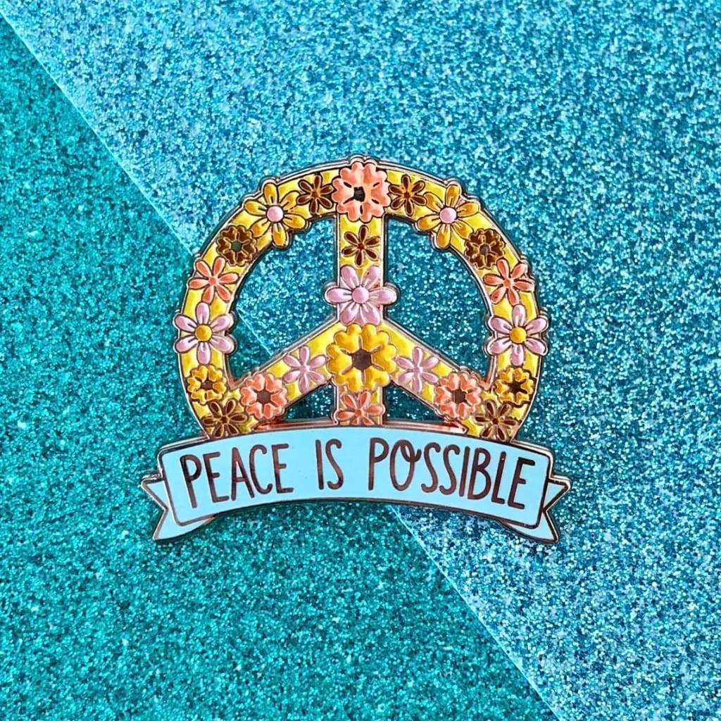 Custom Enamel Pin Peace is Possible - Pins