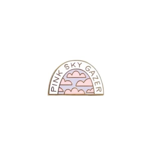 Custom Enamel Pin Pink Sky Gazer - Pins