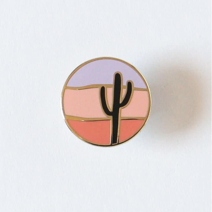 Custom Enamel Pin Saguaro Sunset - Pins