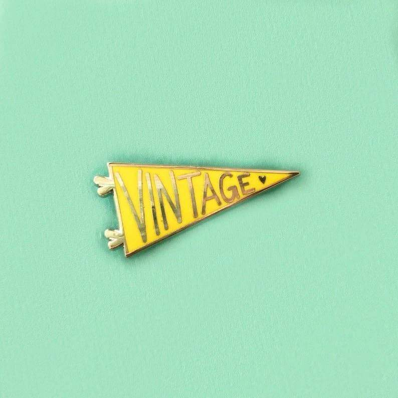 Unexpected Flair - Vintage Pennant Enamel Pin