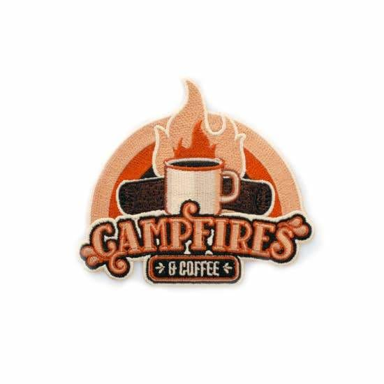Custom Patch Campfires & Coffee - Patches