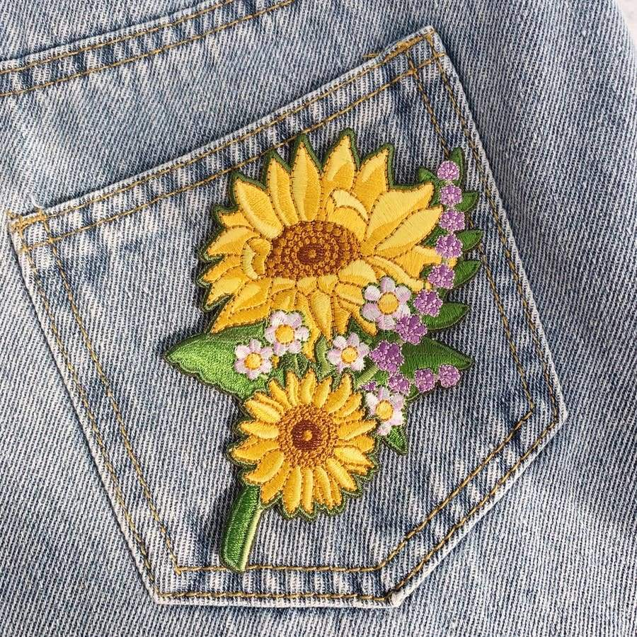 Custom Patch Set Sunflowers - Patches