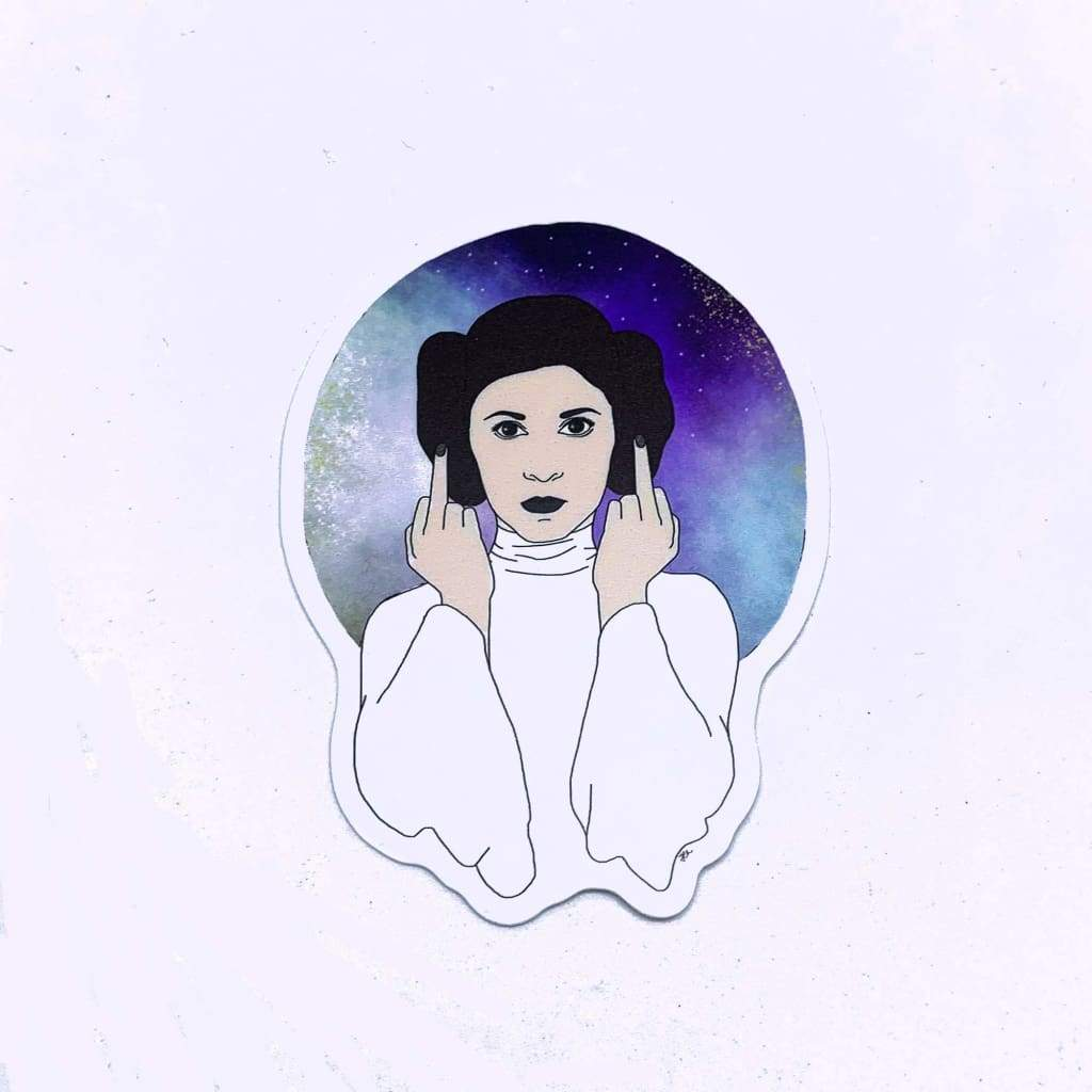 Citizen Ruth - Princess Leia Middle Finger Sticker - default
