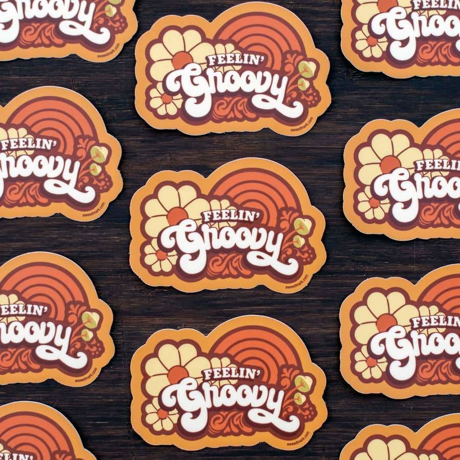 Custom Sticker Feelin' Groovy - Sticker