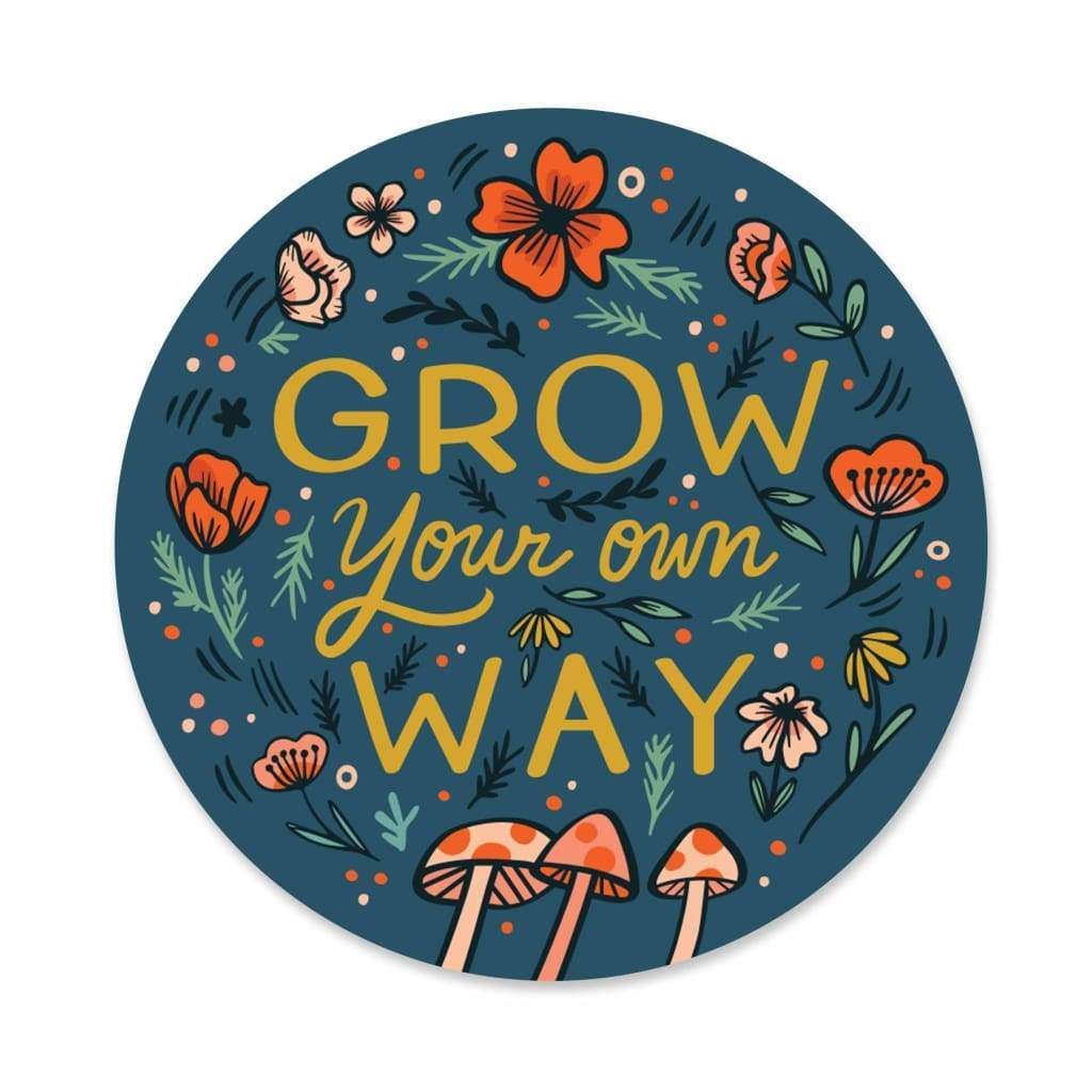Paper Parasol Press - Grow Your Own Way Sticker