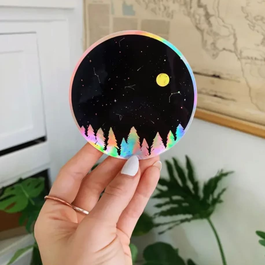 Custom Sticker Holographic Night Sky - Sticker