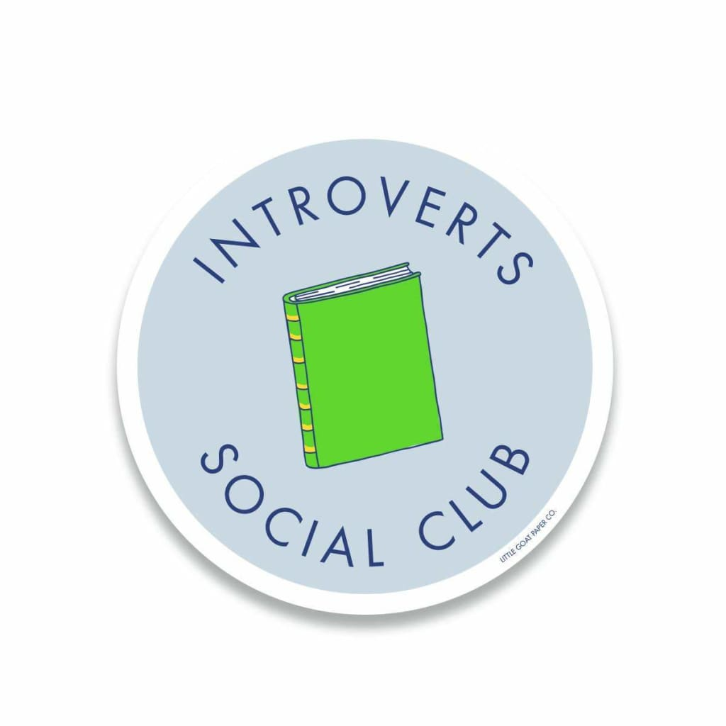Custom Sticker Introverts Social Club - Pins