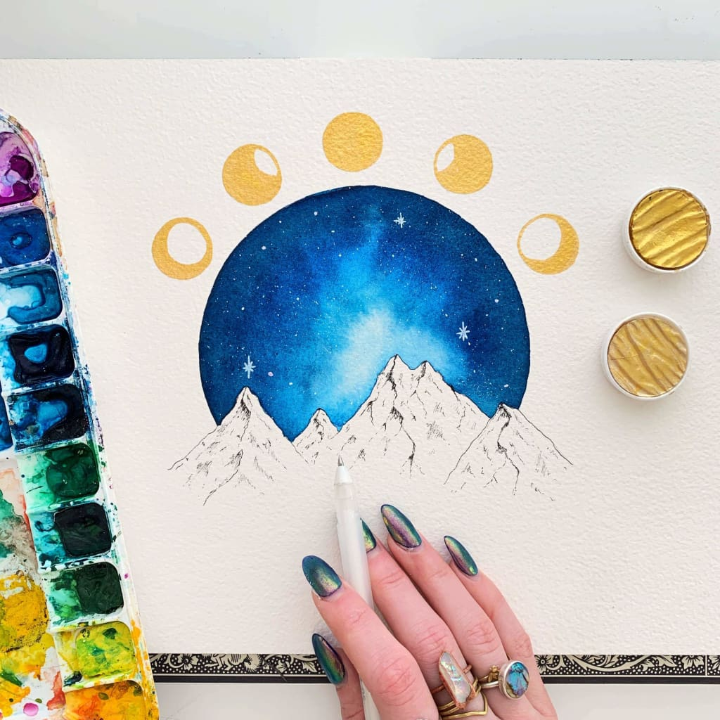 Jess Weymouth - Lunar Phases Print (8 x 10)