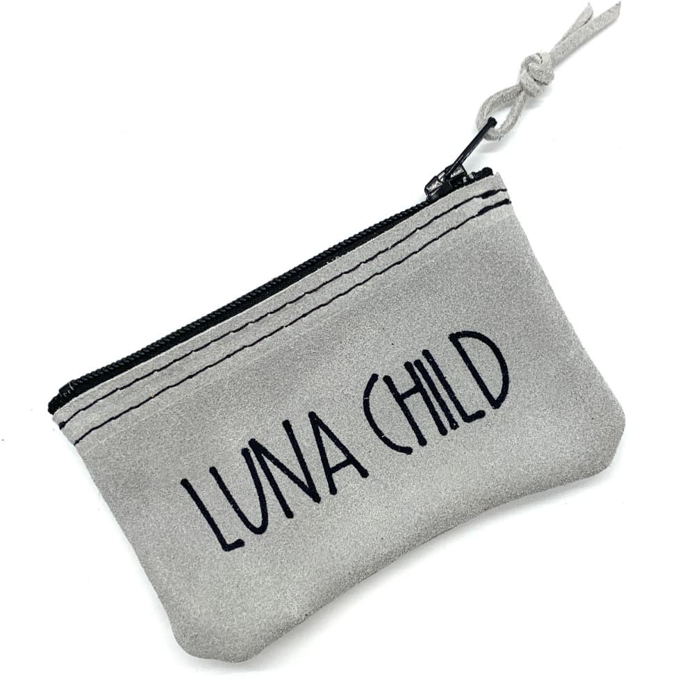 Leather Penny Purse Grey Luna Child - Penny Purse