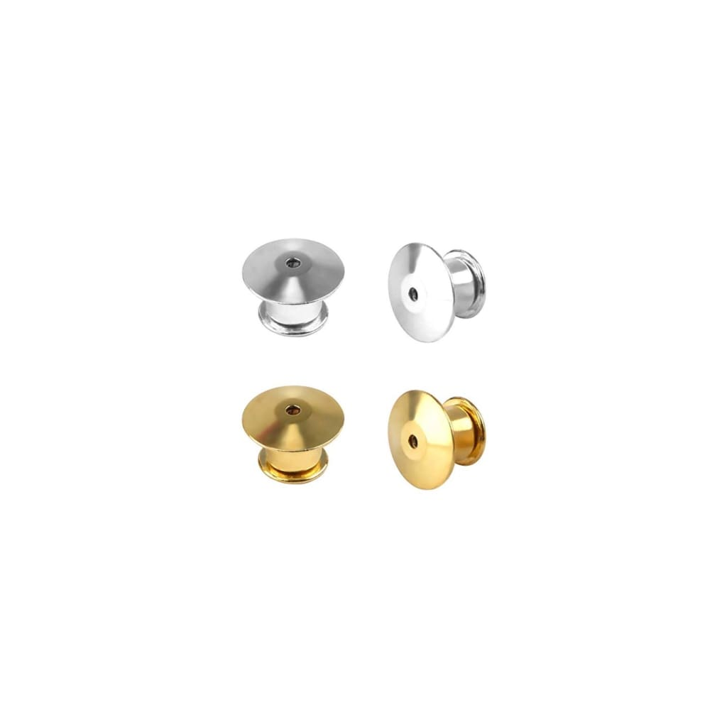 Locking Pin Backs - Gold & Silver - Pins