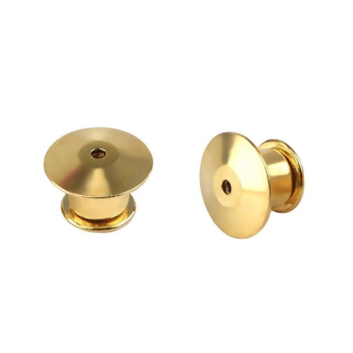 Locking Pin Backs - Gold - Pins