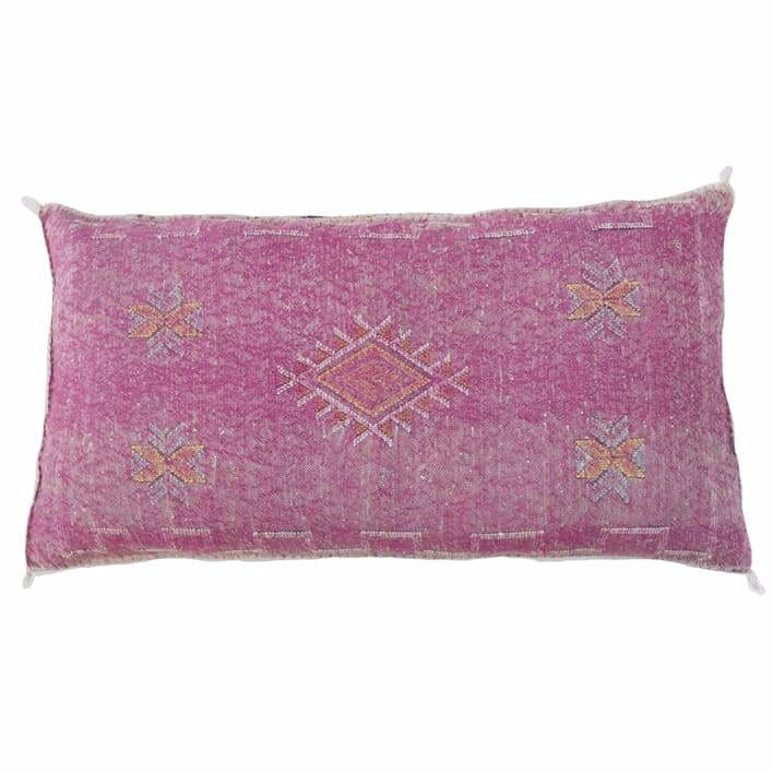 Moroccan Cactus Silk Giant Lumbar Pillow Grapevine - Pillow
