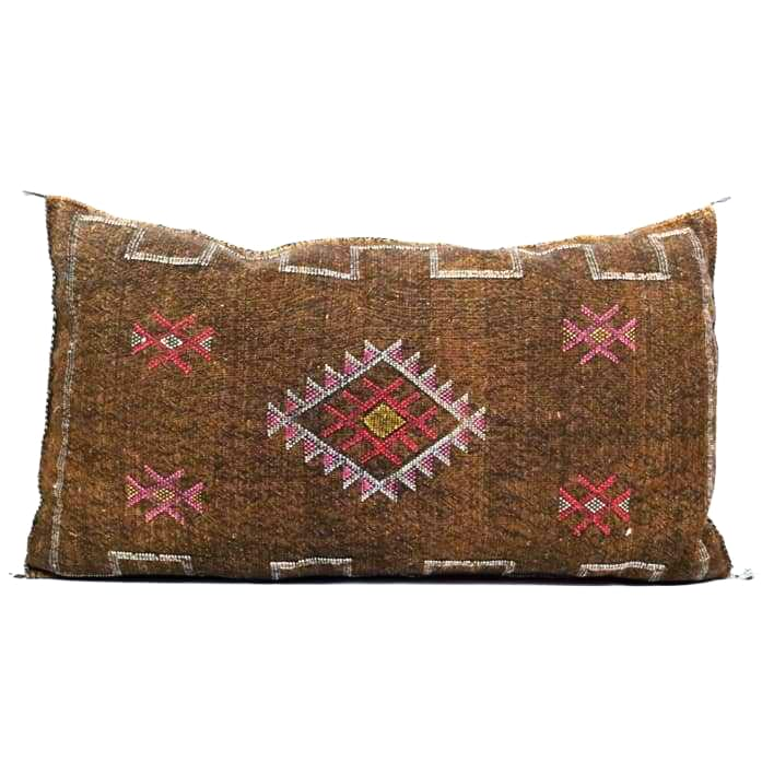 Moroccan Cactus Silk Giant Lumbar Pillow Woodstock - Pillow
