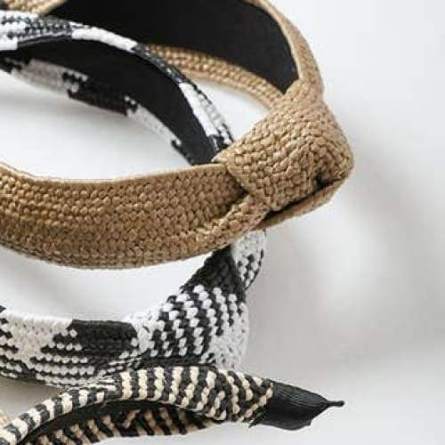 Natural Rattan Knotted Headband - Headband
