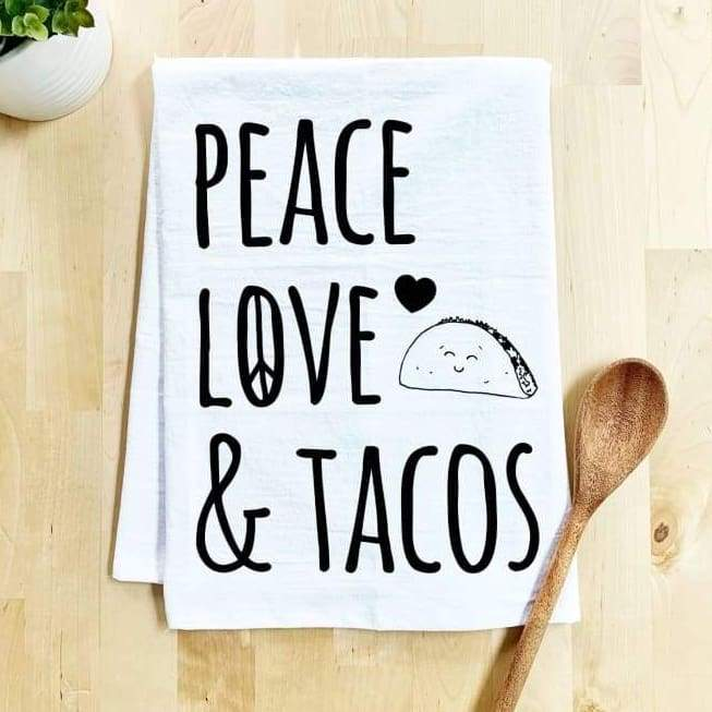 Moonlight Makers - Peace Love & Tacos - Set of 6 Dish Towels