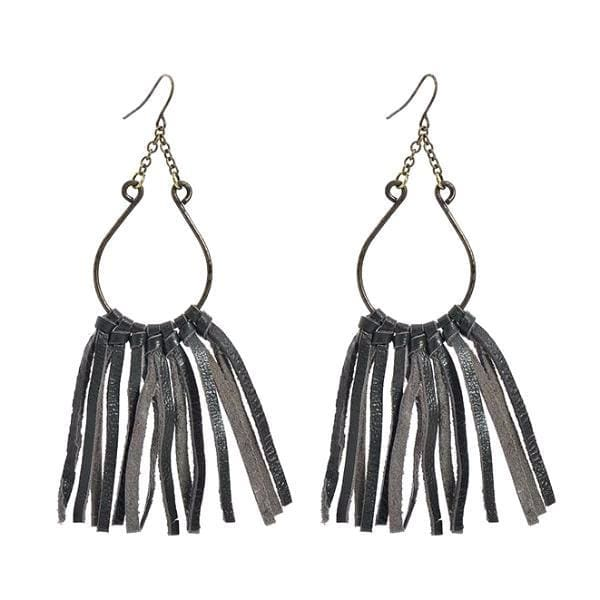 Earrings Ride-or-Die Leather Tassel - Earrings