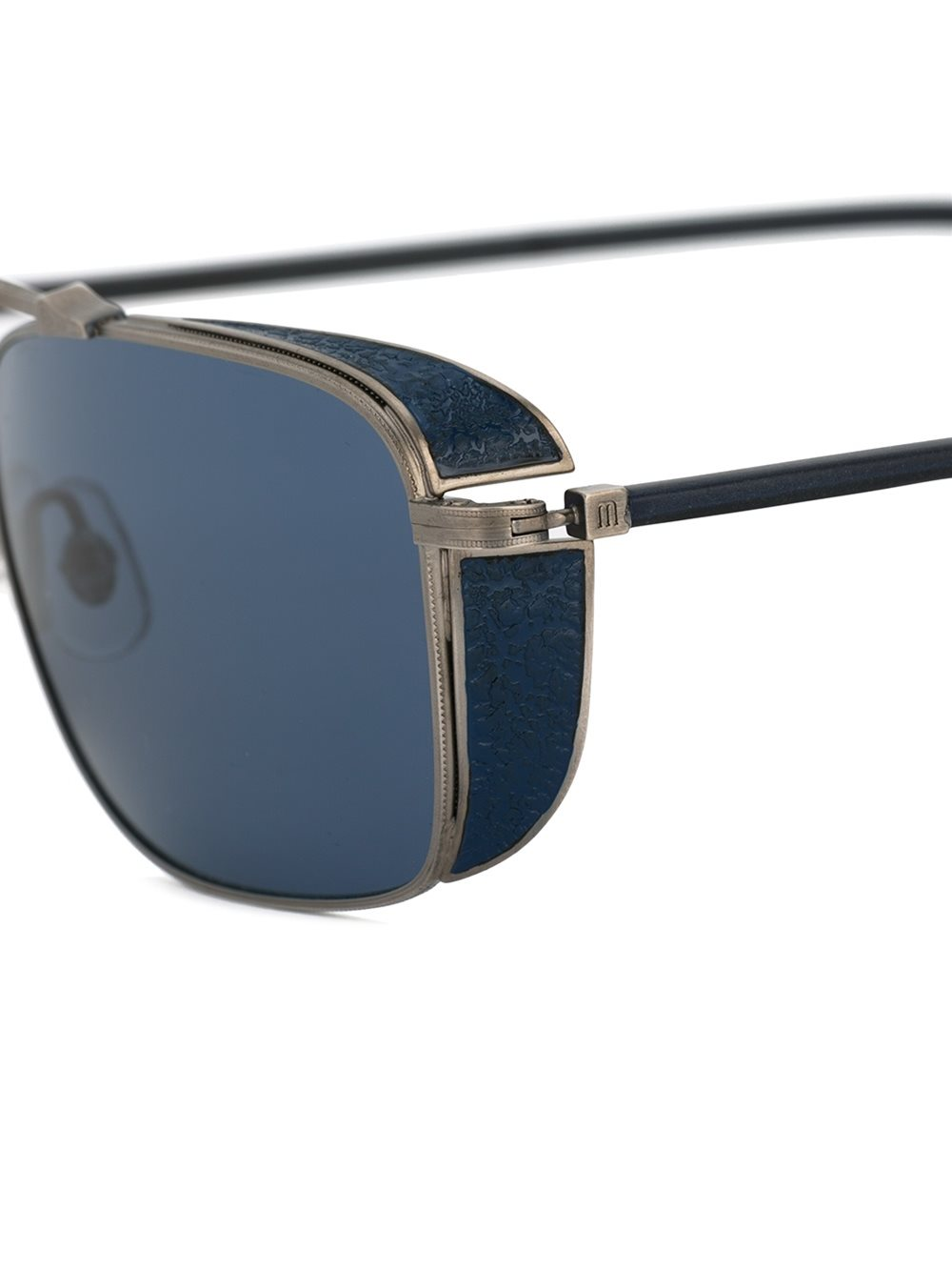 Mens-Square Silver Luxe Sunglasses - THE UNIQUE FIT