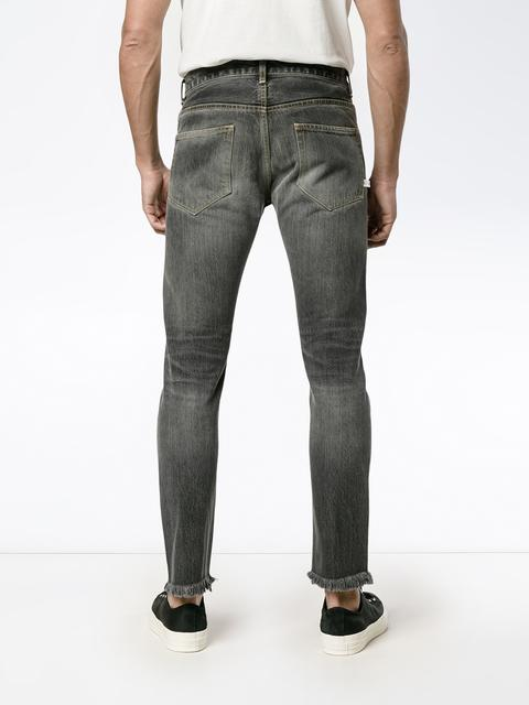 Mens-Slimfit Grey Black Shaded Jeans. - THE UNIQUE FIT