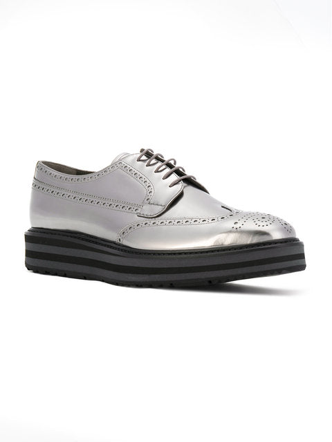 Mens-Silver Grey Lace up Shoes - THE UNIQUE FIT