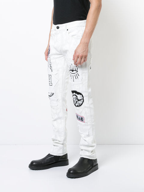 Mens- white funky pants - THE UNIQUE FIT