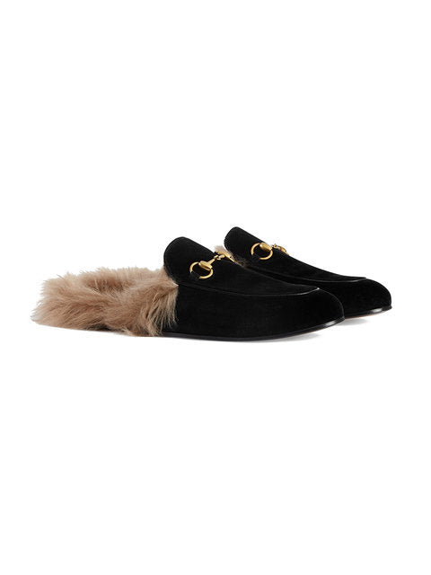 Mens-Velvet imported Black Slipers - THE UNIQUE FIT