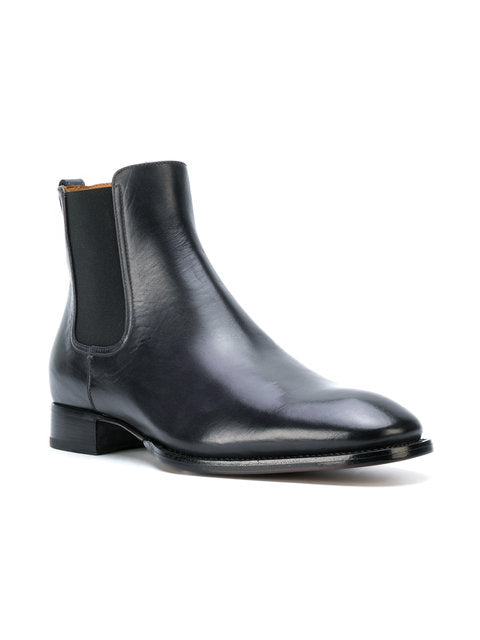 Mens black-ankle length boots - THE UNIQUE FIT