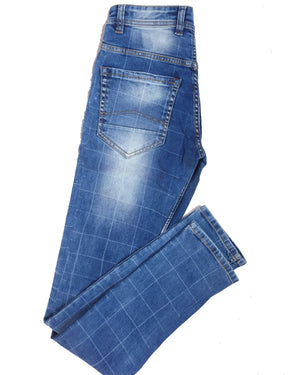 SQUARE-Tapered Fit Classic blue jeans - THE UNIQUE FIT