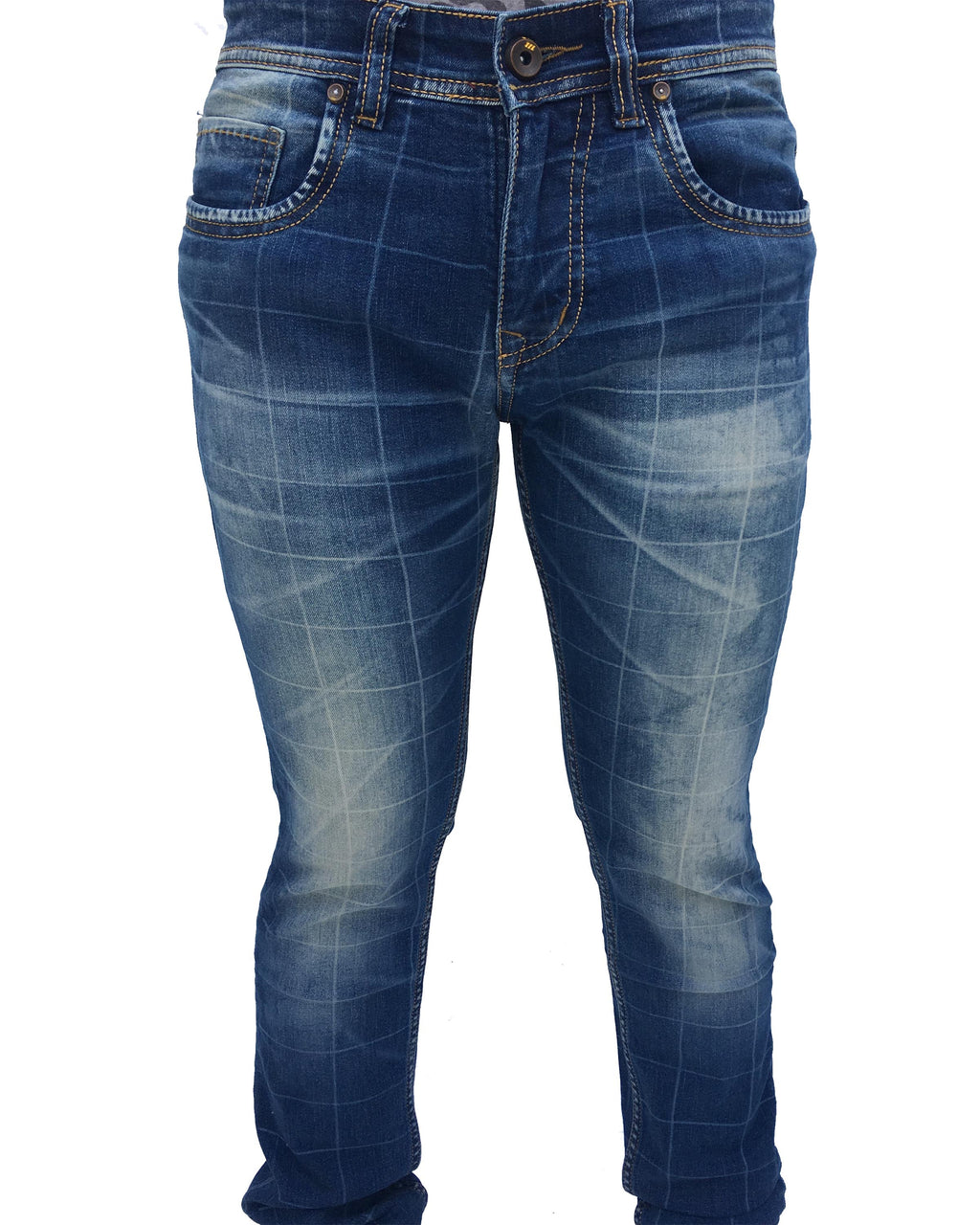 SQUARE -Tapered Fit Denim Jeans - THE UNIQUE FIT