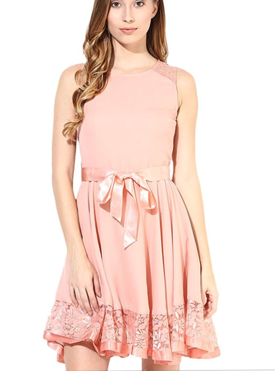 Womens-pleated chiffon Diana dress - THE UNIQUE FIT