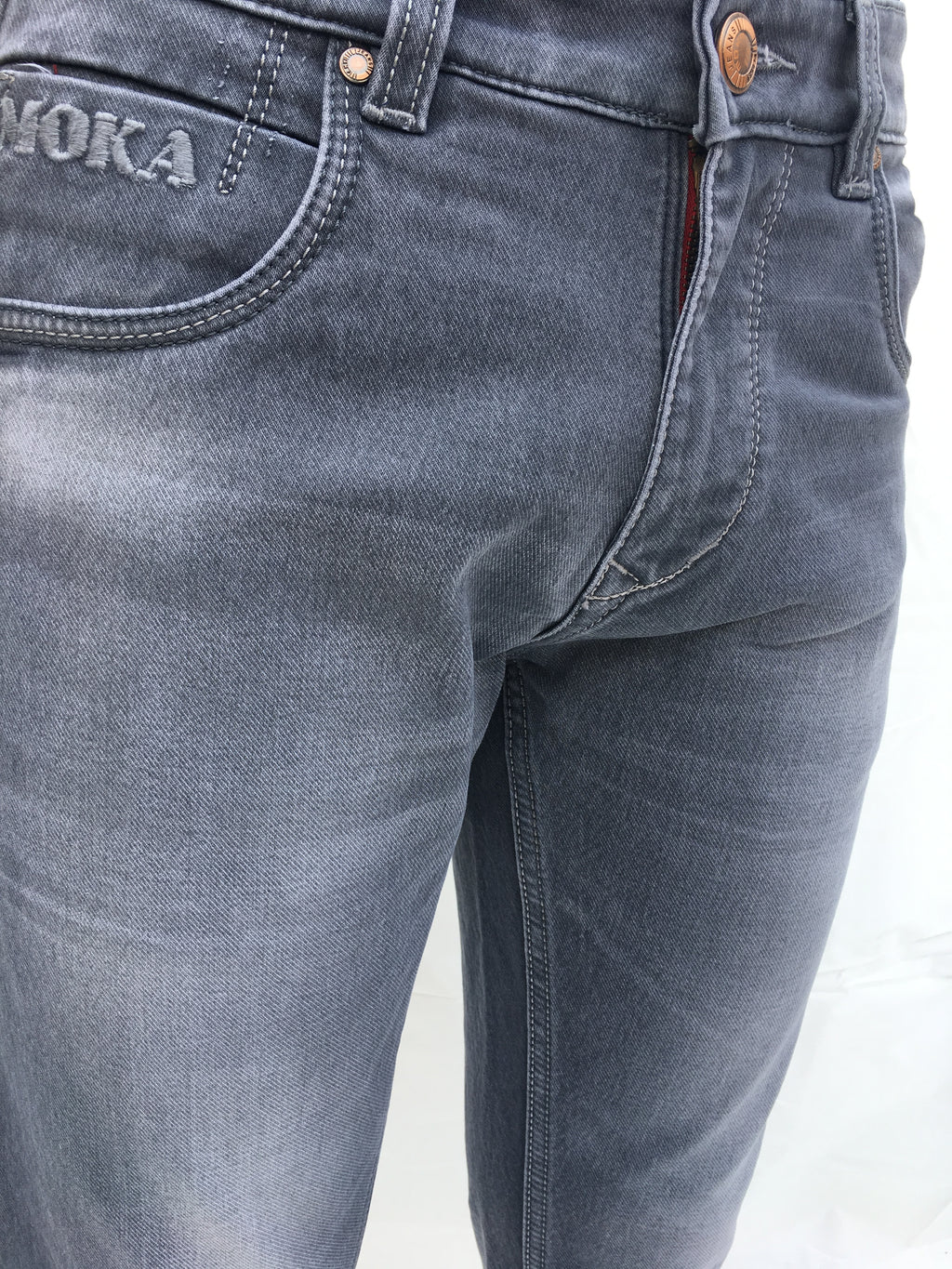 Grey- Tapered Jeans - THE UNIQUE FIT
