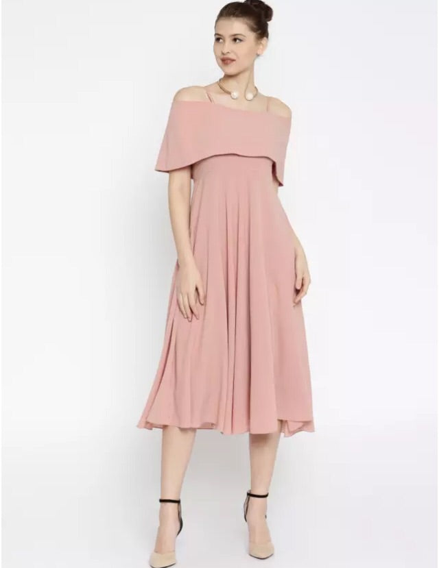 SF-Women Long Dress Peach - THE UNIQUE FIT