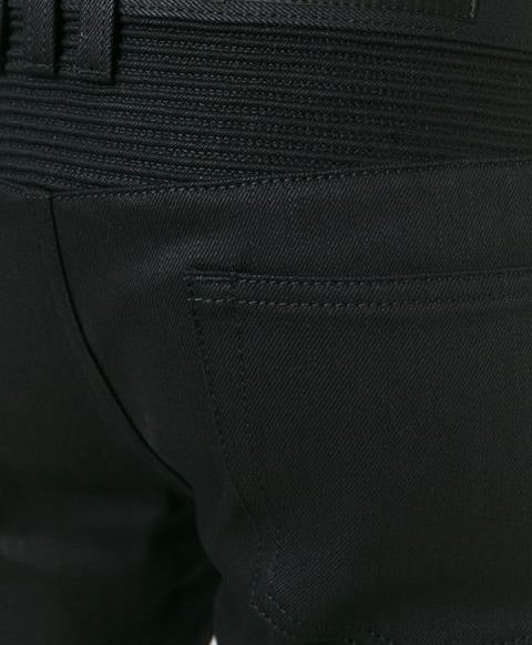 Men's raw jet black raw denim - THE UNIQUE FIT