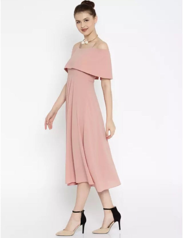 SF-Women Long Dress Peach(Contest) - THE UNIQUE FIT
