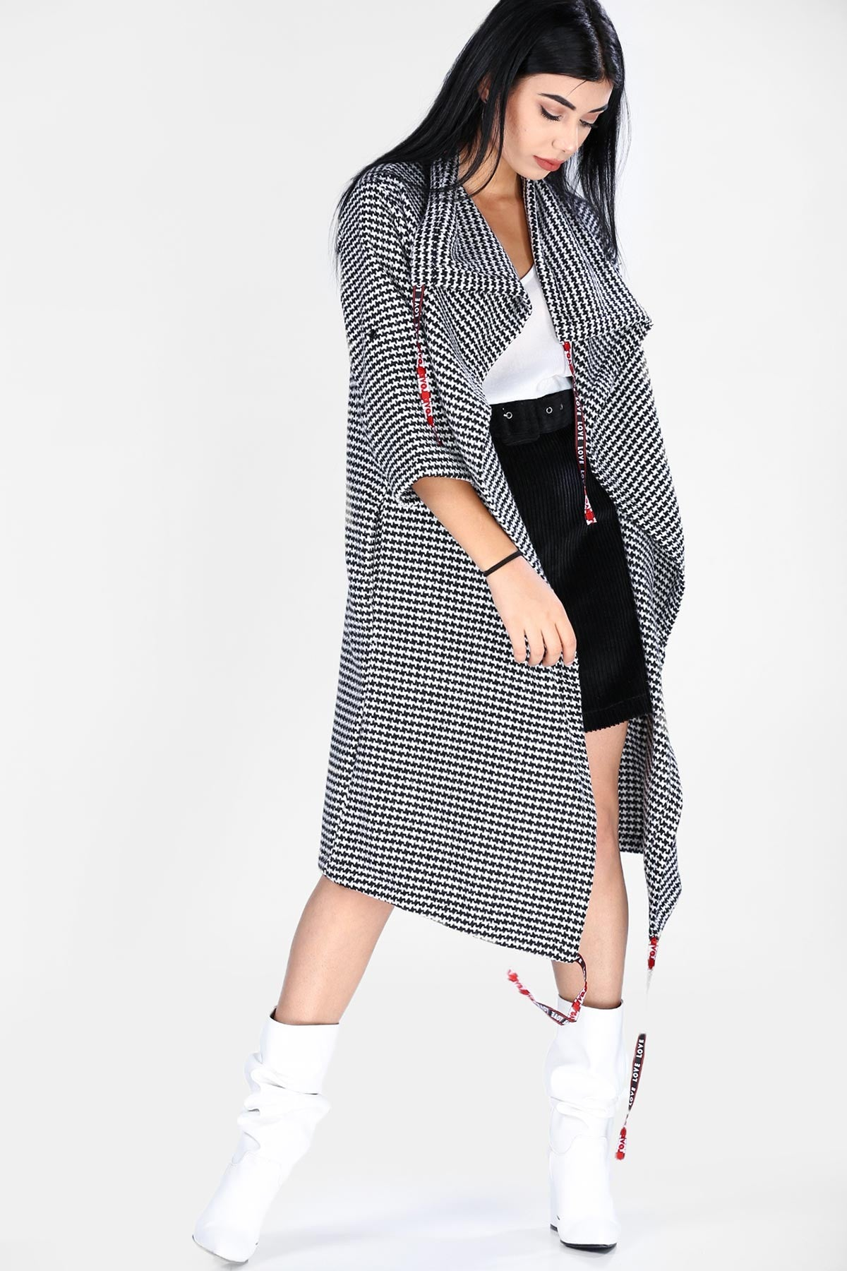 Women's Long Patterned Jacket - THE UNIQUE FIT