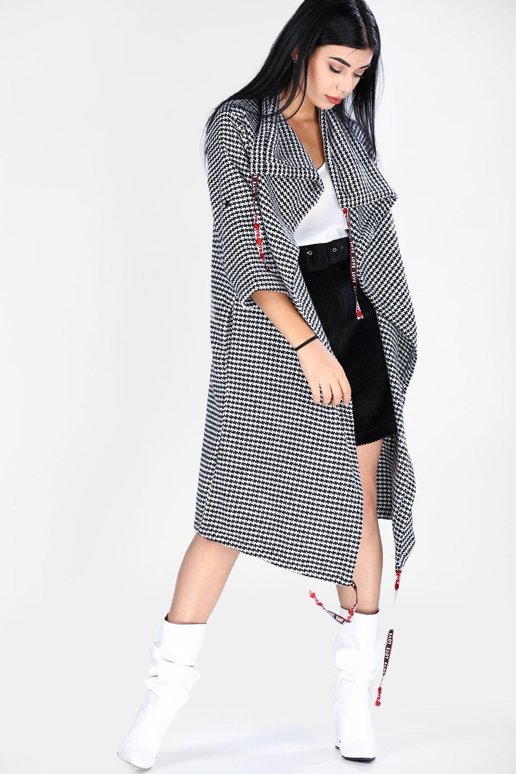 Women's Long Patterned Jacket(Contest) - THE UNIQUE FIT