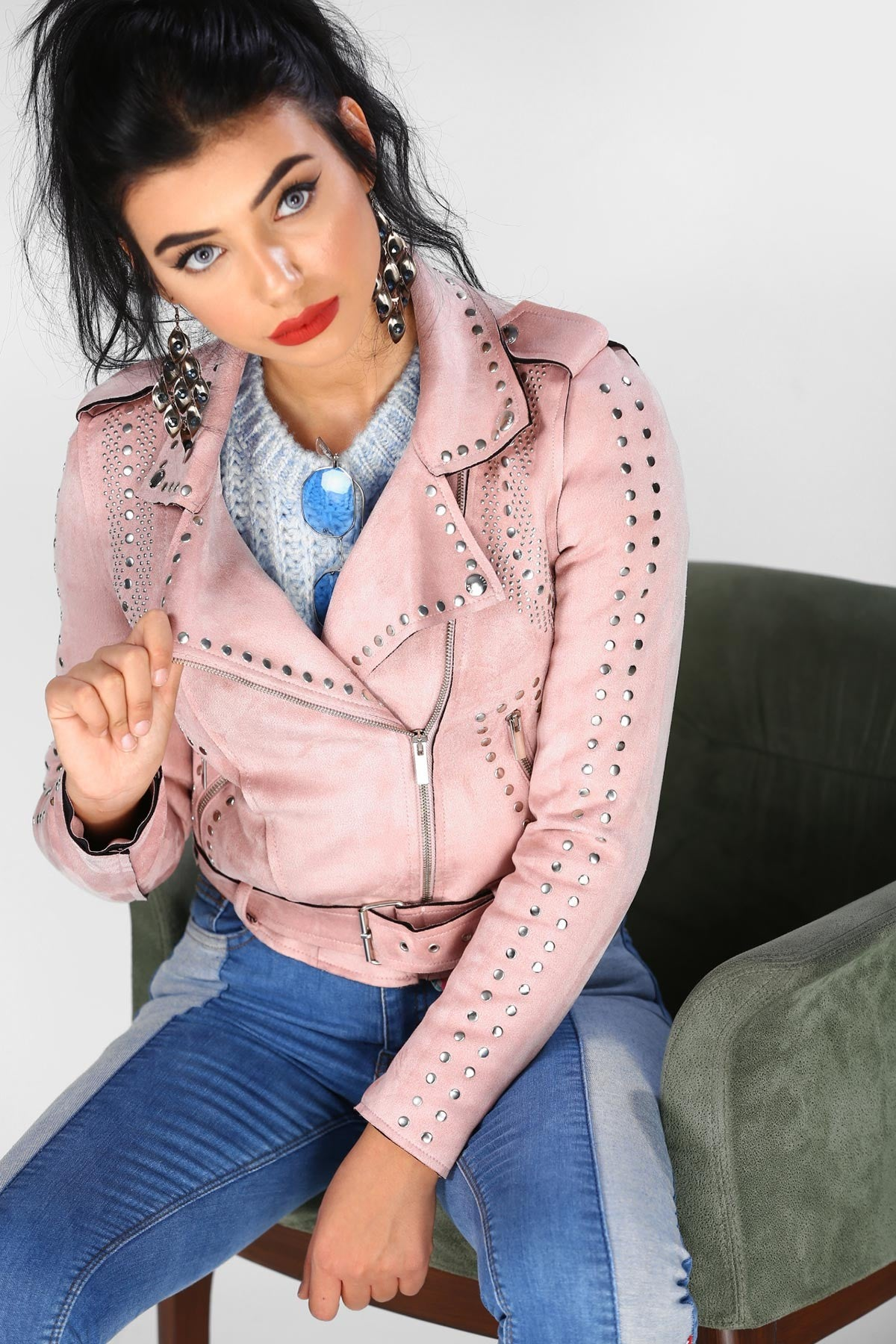 Women's  Embroidered Pink Jacket - THE UNIQUE FIT