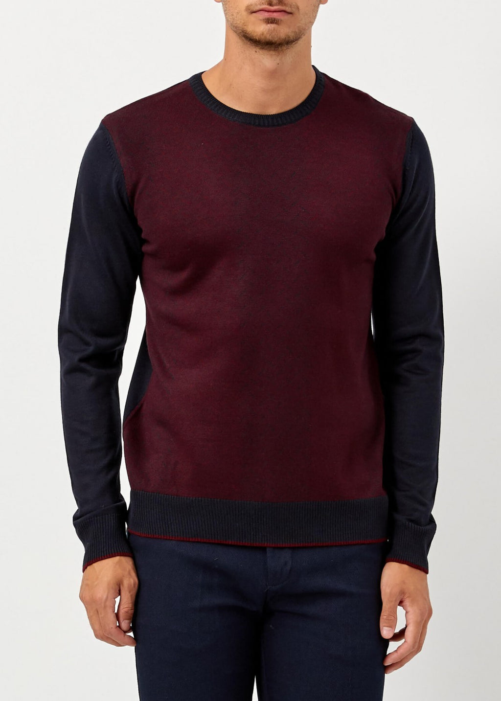 Men's Maroon Winter Wool Pullover - THE UNIQUE FIT
