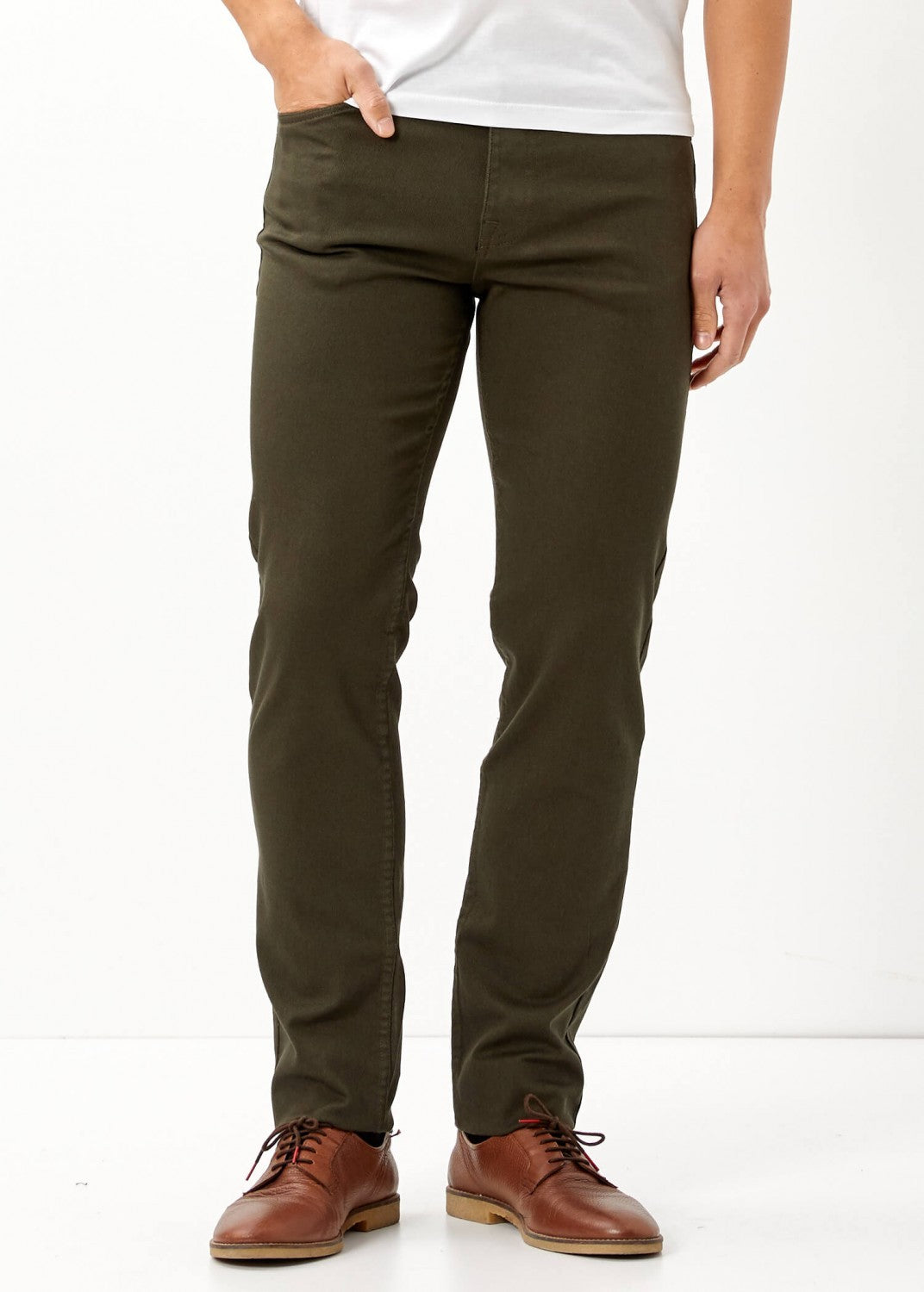 Men's Pocketed Khaki Slim Fit Pants - THE UNIQUE FIT