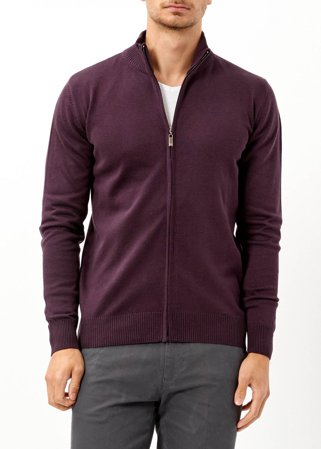 Men`s  Wool Basic Sweater - THE UNIQUE FIT